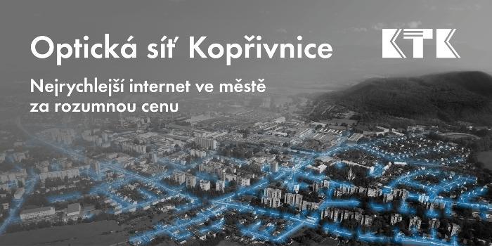 Optická síť Kopřivnice - nejrychlejší internet za rozumnou cenu